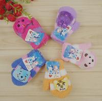 Baby  Boys Girls Wrist Winter Gloves Bear Pig Cat Animal Design Baby children Gloves Winter mittens Glove
