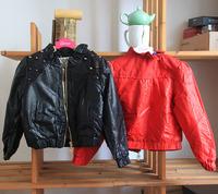 wholesale(5pcs/lot)-2015 new spring autumn zipper Rivet leather jacket for child girl