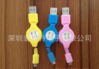 Free shipping colorful Retractable Micro USB Data Charger Sync Cable For HTC for Sumsang s4 for Blackberry