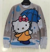 Top Quality Fashion Women/men Print  Galaxy hoodies 3d sweatshirts cute kitty cat cartoon 3d pullover casual sweaters