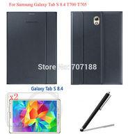 Original Ultra Slim Smart Magnetic PU Leather Case+2xFilm+Stylus For Samsung Galaxy Tab S  8.4 T700/T705,Free Shipping!