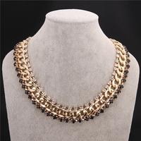 New Fashion Jewelry Brand Luxury Bohemia Jewellery  Women Collar Dress Prom Party Macrame Statement Necklace VFN170