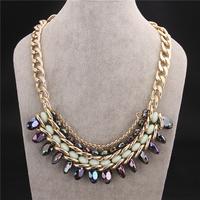 New Fashion Jewelry Brand Luxury Bohemia Jewellery  Women Dress Prom Party Statement Necklace VFN169