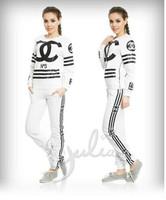 Minigum shop New 2014 women fashion green love couture 2pcs sport tracksuit sportwear hoody Sweatshirt suit 0031