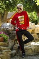 MiNi Gum 2014 New women fashion 2pcs Shield hourse print pullovers sweatshirt hoody tracksuit sportwear suit activey s m l