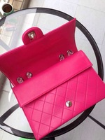 Fashion Luxury Handbag With Lambskin Leather 66885 New women's Real Channel Messenger Bags 30cm Size Pink Color Handbags