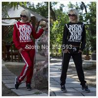 Mini Gum  2014 New Autumn Winter 2 Piece Sport Suit Sportswear Black Star Timati Print Sweatshirt Set tracksuit Women Hoodie 001