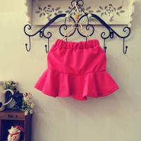 Special approval ! 2014 Korean version of the new spring models Kids lotus fishtail skirt package hip skirt skirt children skirt