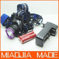 2000 Lumens CREE XM-L2 LED XML T6 LED Headlamp Headlight Flashlight Head Lamp Light + 2*18650 4200mAh battery + charger