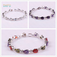 AAA top quality Platinum plated Teardrop-shaped Austrian crystal bracelet free shipping