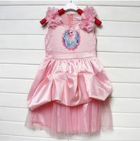 Christmas Seasn Sale Romance Snow Autumn Models Girls Elsa Dress Princess Dress Pink Girl TUTU Dress 5PCS/Lot Fast Free Shipping