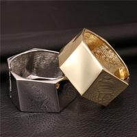 New Fashion Jewelry Brand Luxury Gold Plated Big Hexagon Bangle Women Bracelets VFBA131