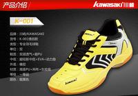 Slip resistant breathable kawasaki shoes badminton shoes for men yellow blue white for choose kawasaki sports shoes