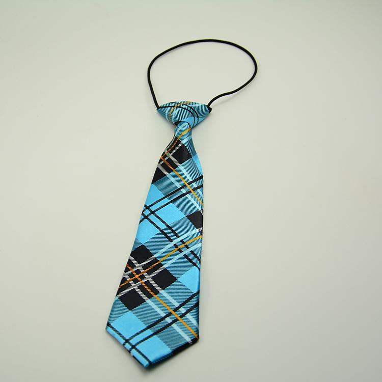 Printing Scotland Grid Plaid Kids Suit Boy Baby Accessories Pattern School Necktie Chlid Ties Necwear Freeshipping Lack Blue(China (Mainland))