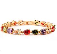 Wholesale Fashion Jewelry Cubic Zirconia Water Drop Shape Stud Earrings
