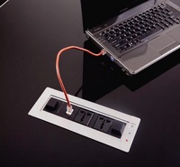 Flip up electric rotating tabletop socket for advanced table