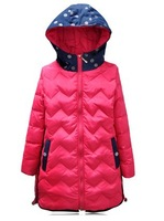 2014 Mickey Tong duckling children down jacket big boy girl special long sections of children's wear in winter season clearance