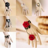 Bijoux Pulseiras Femininas DIY Vintage Flower Lace Bracelets & Bangles Bridesmaid Wrist Handmade Gothic Accessories