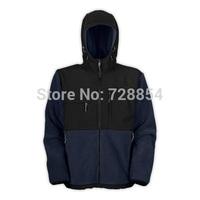 2014 Outdoor Sports Clothes  Men's Navy Blue Color Jacket  Winter Warm Fleece Hoody  8 Colors 300
