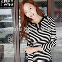 autumn clothing new style women T-shirt fringe base shirt long sleeve V lead korean tide C40 free shipping