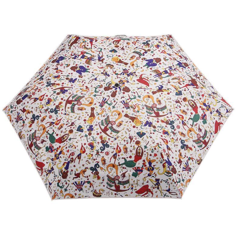 Free Shipping Funny Circus Troup High Quality Vinyl Umbrella Anti-UV Three Folding Umbrella Rain/Sun Kids Umbrella(China (Mainland))
