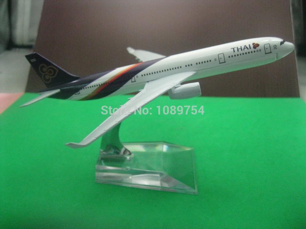 solid 16CM A330 THAI AIR , metal alloy model aircraft free shipping(China (Mainland))
