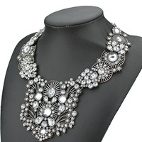 2014 newest choker vintage collar chunky pendant necklaces for women fashion luxury collar crystal necklaces