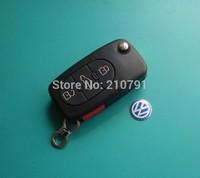 VW 3+1 button flip remote key shell (round) vw flip key case free shipping