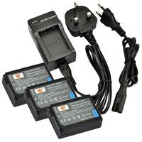 DSTE 3PCS BP-1030 Battery with EU&UK Charger for Samsung NX200, NX210, NX300, NX1000, NX1100, NX2000 Camera