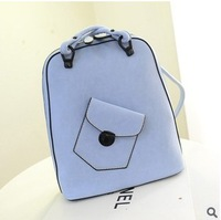 2014 new Korean version influx of backpack shoulder bag retro casual college student PU leather
