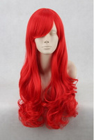 The Little Mermaid /Ariel 65cm Red Culy Cosplay Wig Hair Free Shipping