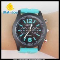 100/lot alibaba express vogue hot sale charming Geneva women silicon watch(WJ-2712)