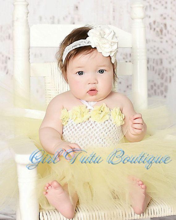 Cute Baby Girl in Blue Dress Cute Baby Girl Bow Green