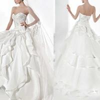 Ivory vestidos de noivas com mangas simples sweetheart ball gown wedding dress puffy luxury ball gown wedding dresses 2014