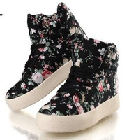 Free Shipping New autumn and winter Women canvas shoes heavy-bottomed flat Sneakers heel platform high shoes,  Women's shoes Q2