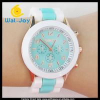 100/lot China wholesale cheap smart popular Geneva girls silicon watch(WJ-2713)