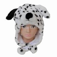 MODA CUBE Plush Animal Dog Dalmatians Baby Lady Kids Costume Winter Hat Beanie