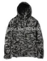 free shipping Camouflage Windbreaker jacket with hood coat