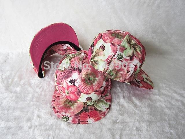 Bulk blank floral snapbacks hats wholesale caps cotton headerwear mens women clothing wholesale free shipping(China (Mainland))