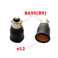 5 Pack/lot Black BA9S B9 to E12 Bulb Converter LED Light Holder Lamp Adapter Socket Change