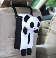 Car tissue box car hanging pumping paper box auto upholstery supplies cartoon panda