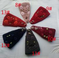 New Winter Chrysanthemum Flower Women Knitted Headwrap Knitting wool crochet headband ear warmers for Girl Teens lady