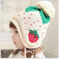 4pcs autumn and winter Korean fashion cute hat knitted thermal printing children hat Free Shipping QX-8331