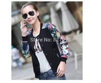 Free shipping  Coat female autumn 2014 autumn dress coat big yards short thin coat female baseball uniform jacket