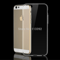 2pcs/lot For iPhone 6 6 plus New Ultra Slim Thin Transparent Crystal Clear Soft Silicon TPU Mobile 4.7'' 5.5'' Case Cover