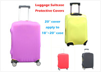 """Protective covers for travel luggage suitcase stretchable 4 colors option 20"""" covers, apply to 18""""~20"""" case"""