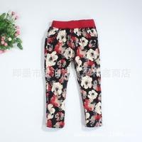 Flower Printing Girls Legging Winter Kids Warm Pants Girls Pants Roupas Infantis Kids Leggings pantalones nina invierno WB-15