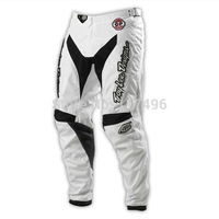Free shipping Troy Lee Designs TLD GP Air Motorcycle Pants with Pad MTB BMX MX Racing Motocross Downhill Pant white
