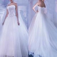 2014 new Arrival Luxury sweetheart bridal gown wedding dress lace Ball Gown vestidos de noivas 2014 rendas estilo princesa White