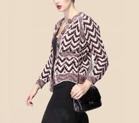 Winter 2014 Wave Pattern Thickening Wool Knitting  Sweater For Women 141013SW01